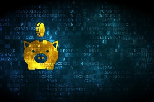 zaloni platform 5.1 release yellow digital piggybank on blue digital background