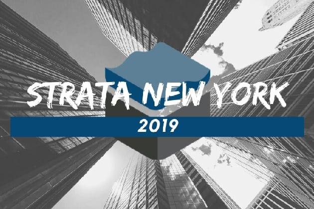strata new york 2019 zaloni logo over black and white skyscrapers