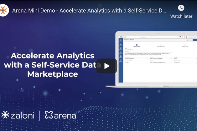 Zaloni Arena Demo: Self-Service Data Marketplace to Accelerate Analytics