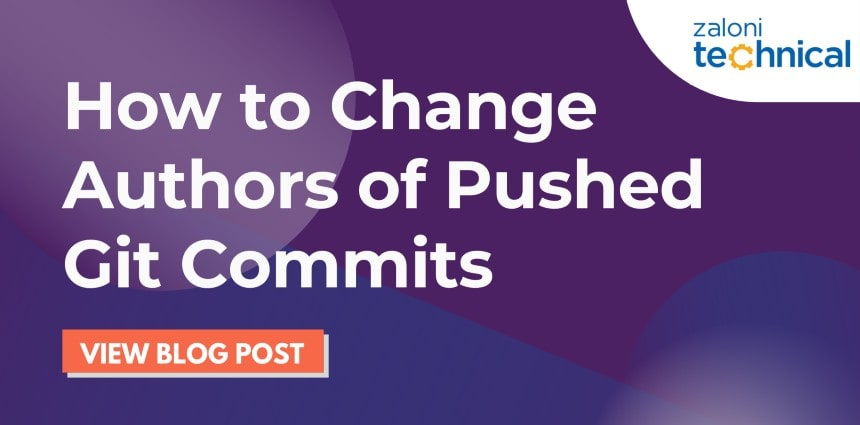 How to Change Authors of Pushed GitCommits