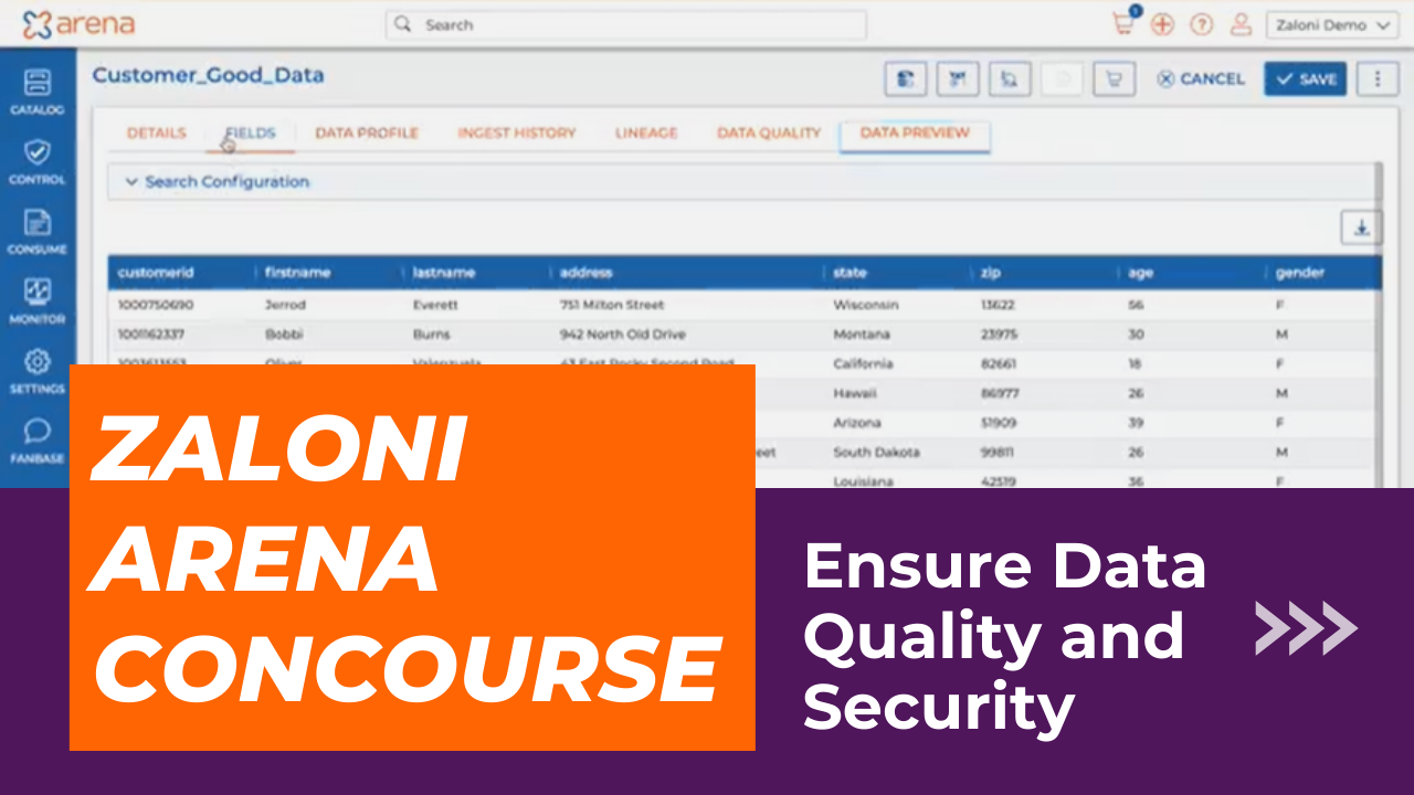 Ensure data quality and security with Zaloni Arena Concourse